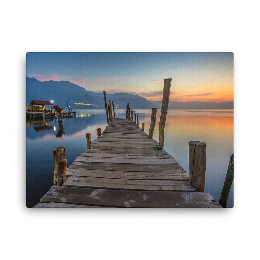 DOCK AT SUNRISE CANVAS - Roberto Destarac Photography