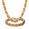 Chunky Chain Jewelry Sets For Men Long Stainless Steel Necklaces + Bracelets African Jewelry
