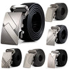 Leather strap male automatic buckle belts for men