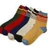 Men autumn winter creative geometry patterns long cotton socks male fashion high socks 5pairs/lot