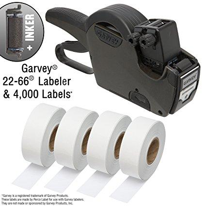 Garvey 22-66 One Line Price Marking Gun Kit: Includes Price Gun, 4,000 White Pricing Labels and Inker