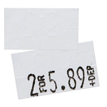 White Pricing Labels for Monarch 1131 Pricing Gun - 1 Sleeve, 8 Rolls 20,000 labels, Adhesive Stickers - Ink Roll Included - Made in the USA