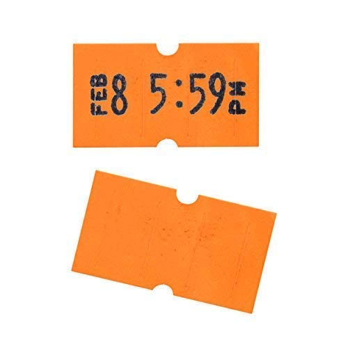 Fluorescent Red Perco Labels for Perco 1 Line Labeler Gun - 10 Sleeve, 80,000 Labels