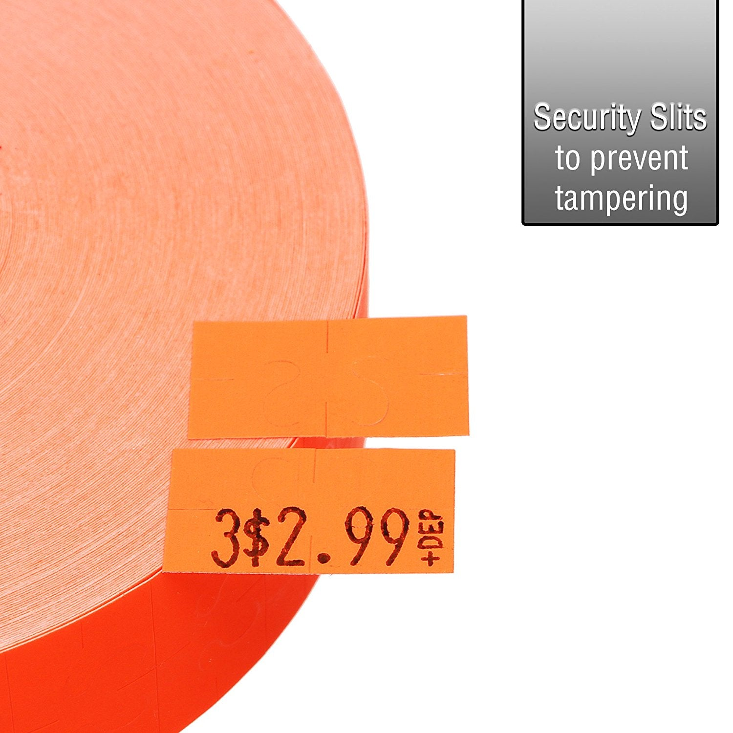 Fluorescent Red Pricing Labels for Monarch 1131 Pricing Gun - 4 Sleeves, 80,000 Pricemarking Labels - With Bonus Ink Rolls