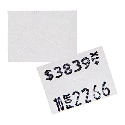 2216 White Pricing Labels for Garvey 22-66 / 22-77 / 22-88 Two Line Pricing Gun 9 Rolls - 9,000 Pricemarking Labels - With Bonus Ink Roll