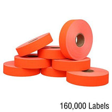 Fluorescent Red Pricing Labels for Monarch 1131 Price Gun – 8 Rolls, 20,000 Pricemarking Labels – With Bonus Ink Roll