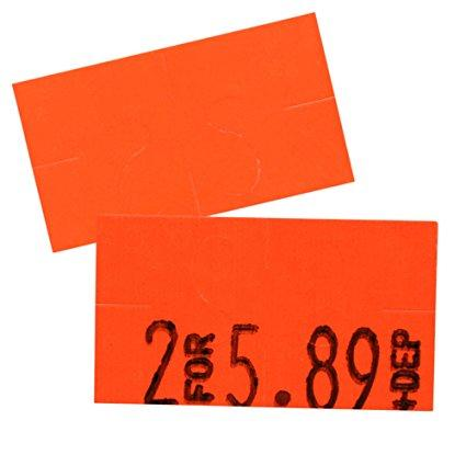 Flou. Red Pricing Labels for Monarch 1110 Price Gun - Sixteen Rolls, 17,000 Pricemarking Labels – Bonus Ink Roll Included