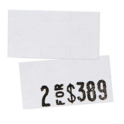 White Pricing Labels for Monarch 1110 Price Gun – Sixteen Rolls, 17,000 Pricemarking Labels – Bonus Ink Roll Included