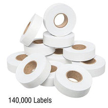 1812 White Pricing Labels for Garvey 18-6 One Line Price Gun – 10 Sleeves – 140,000 Price marking Labels – With Bonus Ink Rolls