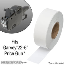 2212 Flou. Red Pricing Labels for Garvey 22-6/22-7/22-8 Price Gun – 90 Rolls, 110,000 Pricemarking Labels – with Bonus Ink Rolls