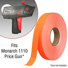 Flou. Red Pricing Labels for Monarch 1110 Price Gun - 4 Sleeves, 68,000 Pricemarking Labels - With Bonus Ink Rolls