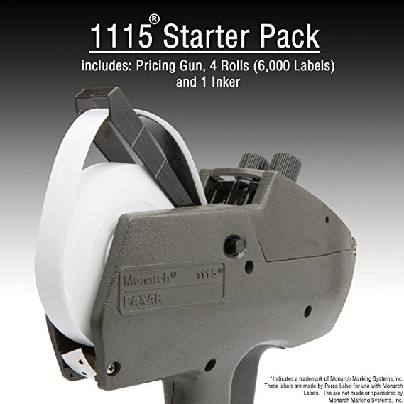 Monarch 1115 Price Gun With Labels Starter Kit: Includes Price Gun, 6,000 White Pricing Labels and Inker