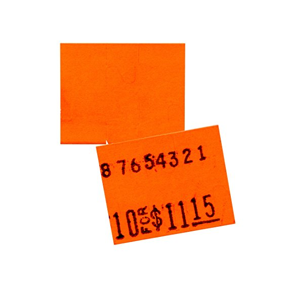Flou. Red Pricing Labels for Monarch 1115 Price Gun - 4 Sleeves, 60,000 Pricemarking Labels – With Bonus Ink Roll