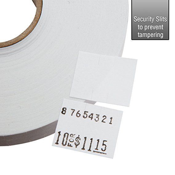 White Pricing Labels for Monarch 1115 Price Gun - 6 Sleeve, 90,000 Pricemarking Labels – With Bonus Ink Rolls
