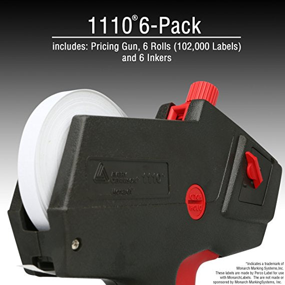 Monarch 1110 Price Gun With Labels Value Pack: Includes Monarch 1110 Pricing Gun, 102,000 White Pricemarking Labels, Bonus Inkers
