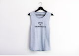 Womens Jersey Muscle Tank (Heather)