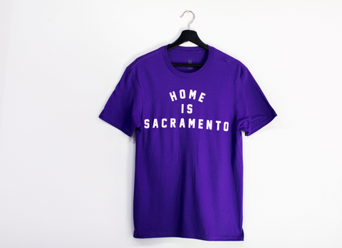 Home is Sacramento- Purple T-Shirt
