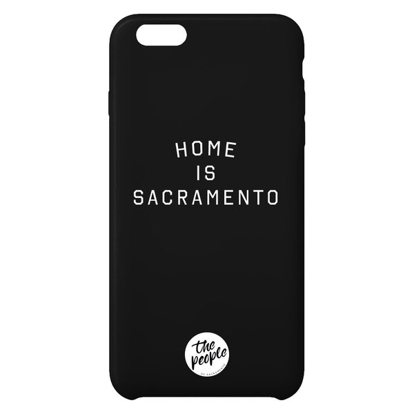 Home is Sacramento iPhone Case - Black