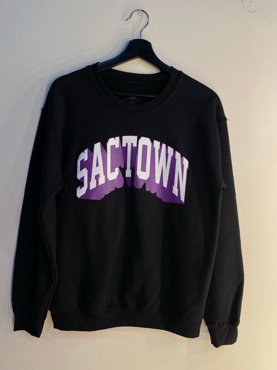Limited Edition TPOS SACTOWN CREWNECK - Black & Purple