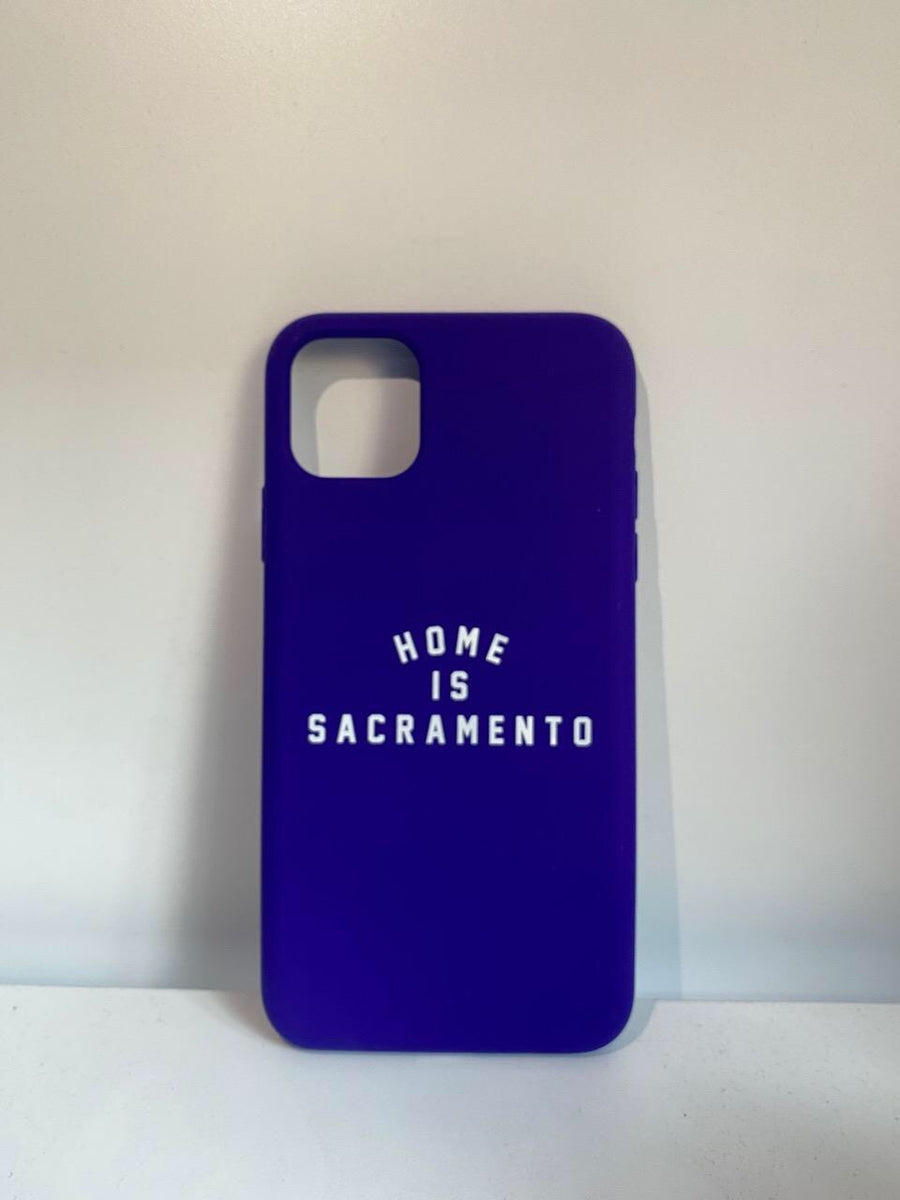 IPHONE: Home is Sacramento Phone Case (Royal Purple/White)