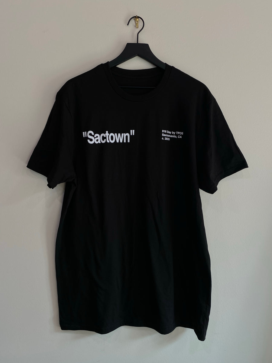 "LIMITED EDITION ""SACTOWN"" 916 Day by TPOS Tee (Black)"