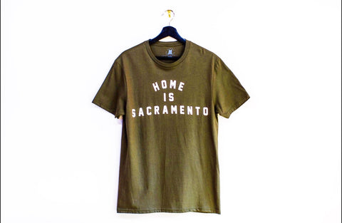 Home is Sacramento- Olive T-Shirt