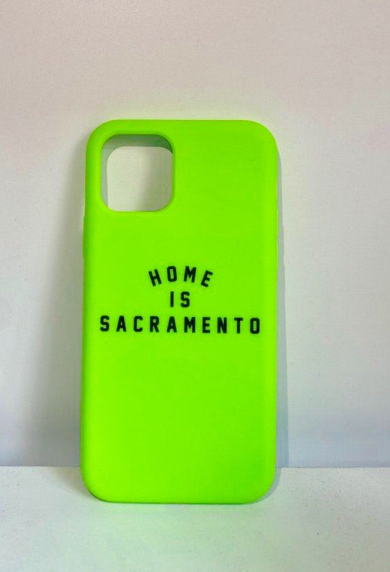 IPHONE: Home is Sacramento Phone Case (Neon Green/Black)