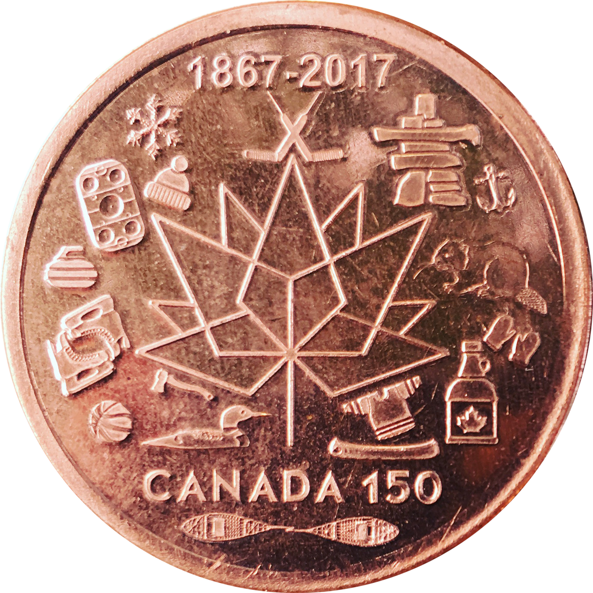 Canada 150 Commemorative Hand Made Coin