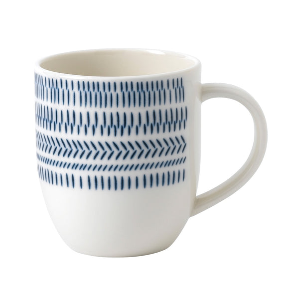 ED by Ellen DeGeneres Chevron Blue Mug 400ml