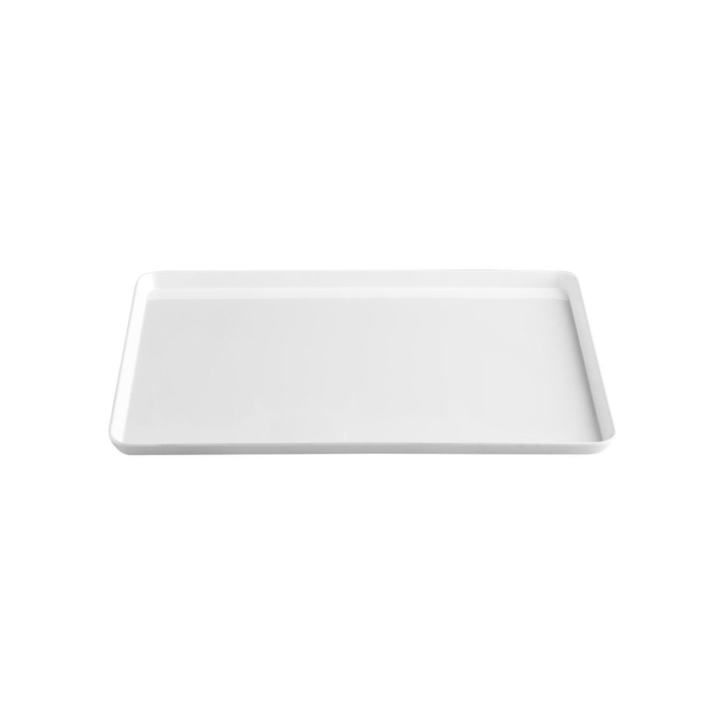 45cm x 34.5cm Melamine White Serving Tray - Minimax