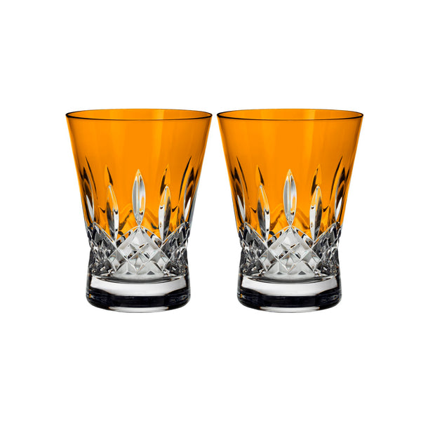 Lismore Pops Orange Double Old Fashioned Pair