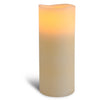 "3.1"" x 8"" Smooth 3 Led Ivory Pillar"