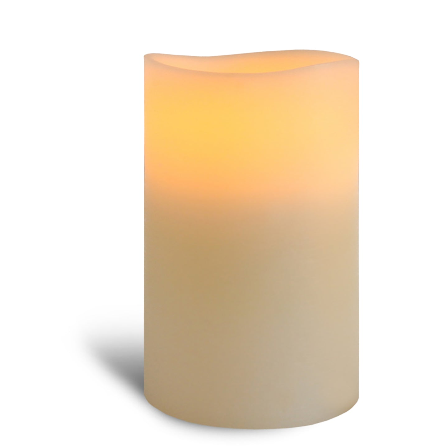 "4"" x 6"" Smooth 3 Led Ivory Pillar"