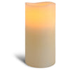"3.1"" x 6"" Smooth 3 Led Ivory Pillar"