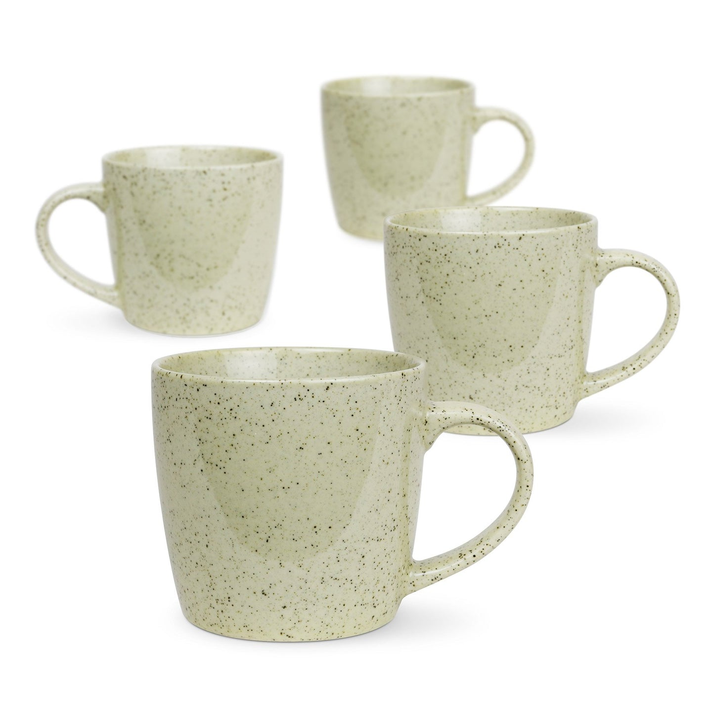 Granite Set of 4 Green Pepper Mugs