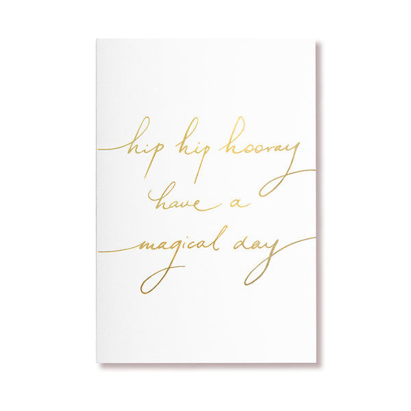 White Hip Hooray Card