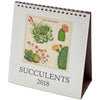 Desk Calendar Succulents 2018