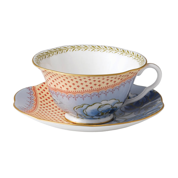 Butterfly Bloom Blue Teacup & Saucer