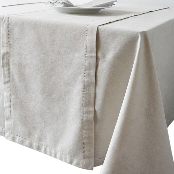 Jetty 150cm x 230cm Oatmeal Tablecloth