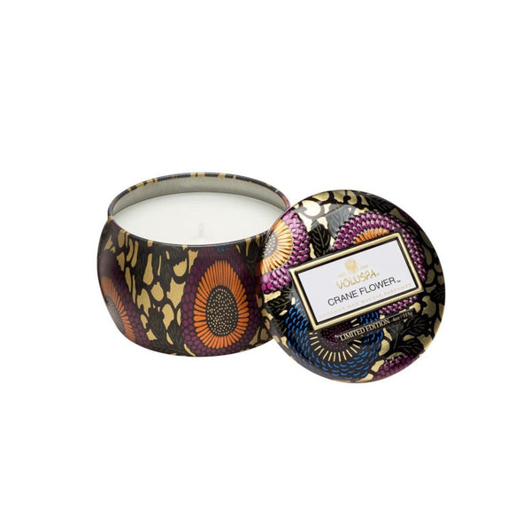 Voluspa Crane Flower Small Tin Candle