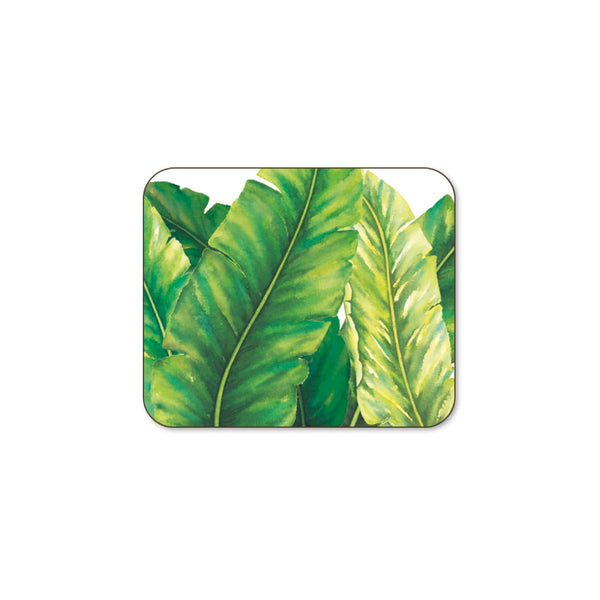 Tropical Leaves Set of 6 Coasters