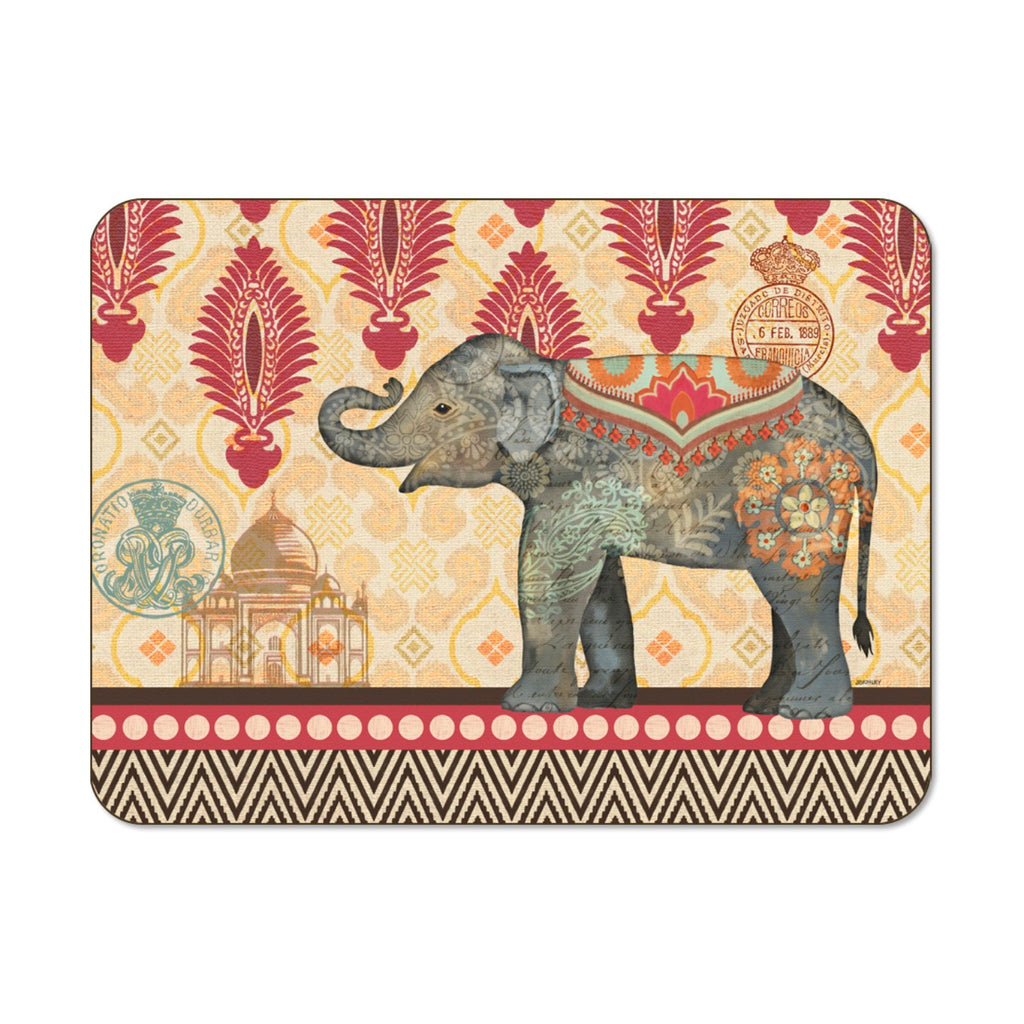 Caravan Elephant Small 29cm x 21.5cm Set of 6 Placemats