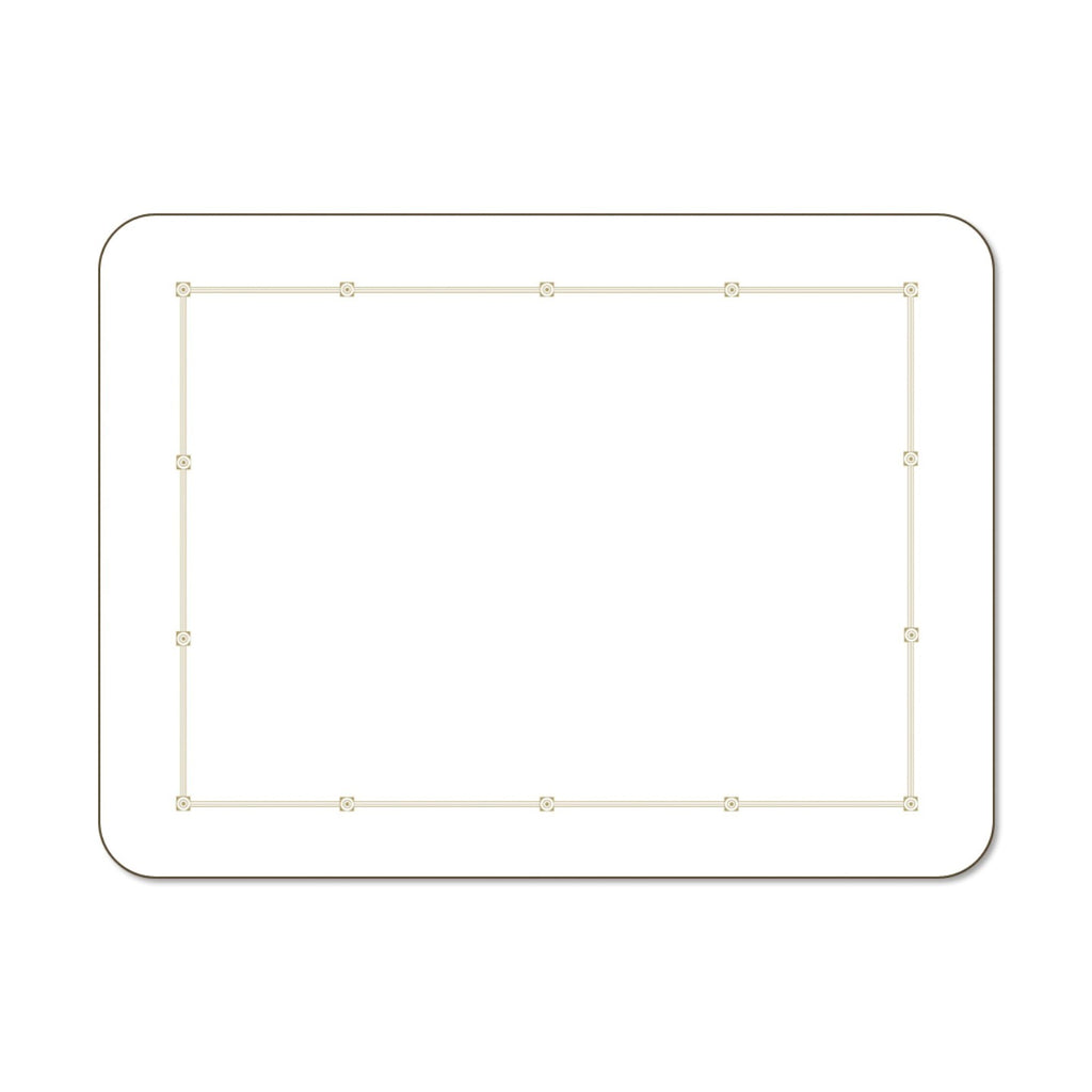 Metropole White Small 29cm x 21.5cm Set of 6 Placemats