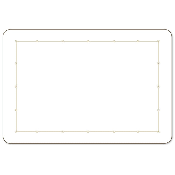 Metropole White Large 43cm x 29cm Set of 2 Placemats