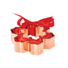 Set of 3 Copper Snowflake Cookie Cutters