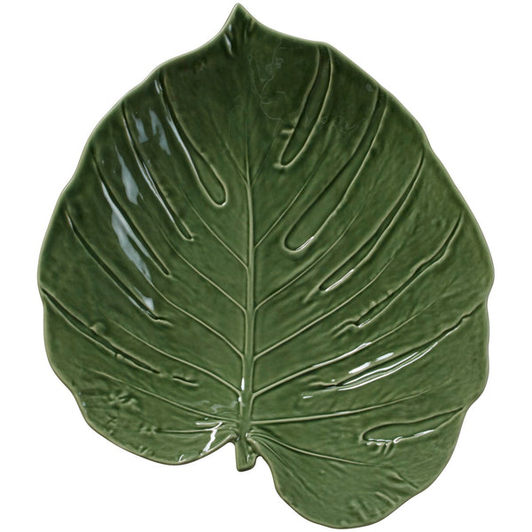 Leaf 43cm Green  Monstera Platter