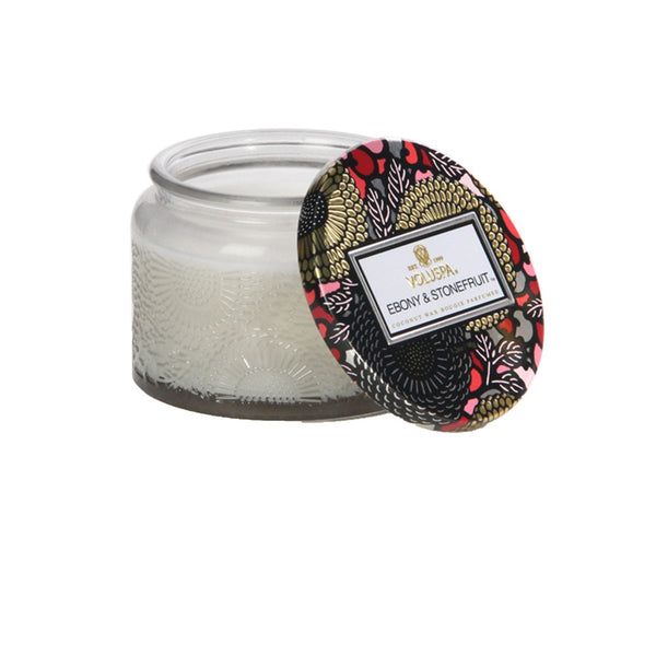 Voluspa Ebony Stone Fruit Small Jar Candle