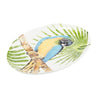 Tropical Parrot 44.5cm x 33.5 Oval Platter