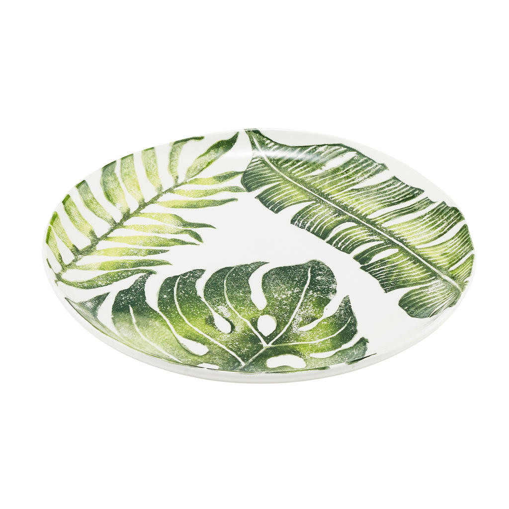 Tropical Leaf 41cm Round Platter