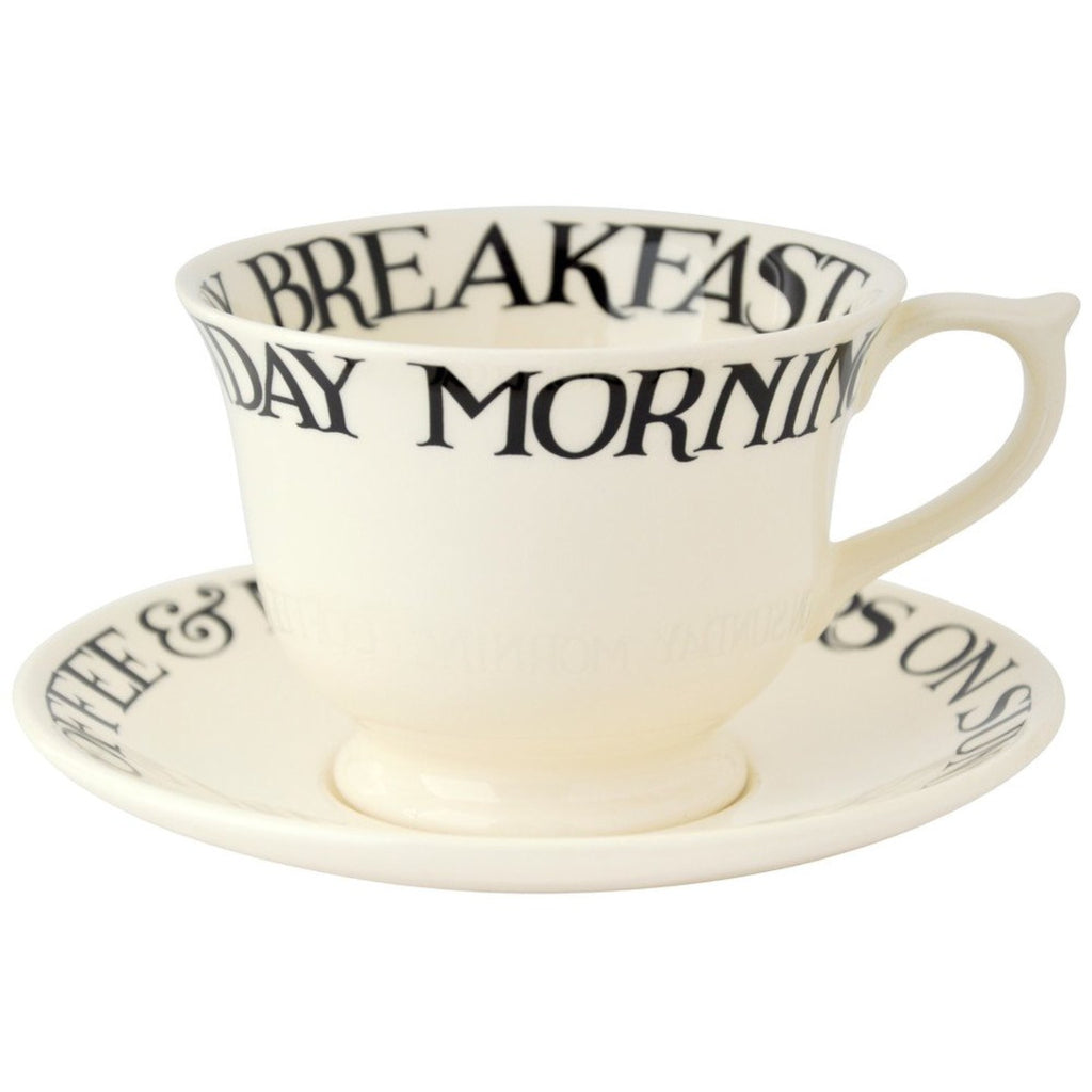 Large Black Toast Cup & Saucer